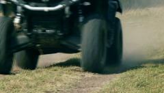 Stock Video Footage of Quad bike cross country