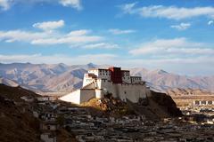 Shigatse monastery in tibet Stock Photos
