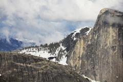 yosemite mountains - stock photo