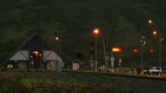 Whittier Tunnel - Waiting for Traffic Release Wider Stock Footage