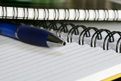 Notebook close-up Stock Photos