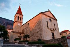 Saint mark's church in makarska, croatia Stock Photos