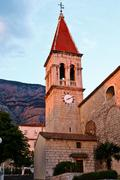 saint mark's church in makarska, croatia - stock photo