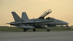 Aircraft, CF18 Hornet, canopy open, medium Stock Footage