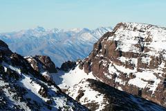 Beautiful high mountain Stock Photos