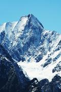beautiful high mountain - stock photo