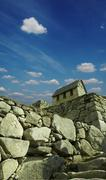 stone ruins in the city machu-picchu,peru - stock photo