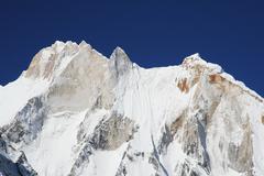 Mount meru in  himalayan Stock Photos
