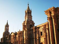 church in the arequipa,peru - stock photo