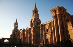 Stock Photo of church in the arequipa,peru