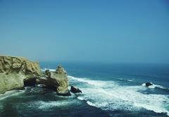 Cliff in the paracas park in peru Stock Photos