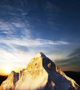 Shivling peak on sunset Stock Photos