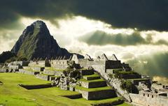 Stock Photo of storm weather in machu-picchu city