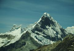 Peak caraz  in cordilleras mountain Stock Photos