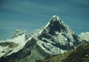 Stock Photo of peak caraz  in cordilleras mountain