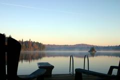 Autumn Morning Mist Stock Photos