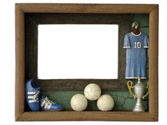 frames football - stock photo