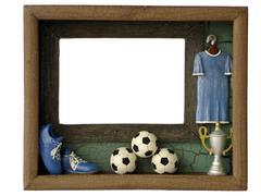 photo frames football - stock photo