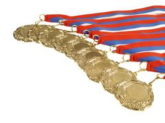 Stock Photo of gold medals