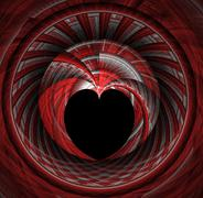 Fractal tunnel leading to heart Stock Illustration