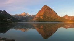 Sunrise Time-Lapse at Mountain Lake w/ clouds dancing about Stock Footage
