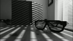 Sunglasses and Blinds - stock footage
