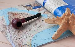 geographical journal - stock photo