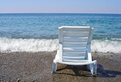 lounge on the beach - stock photo