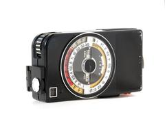 vintage light meter - stock photo