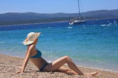 Stock Photo of young woman in bikini