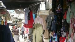 OLD MOMBASA AFRICAN CITY PEOPLE BAZAAR Kenya, Africa Stock Footage