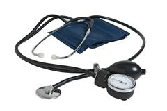 device measuring blood pressure - stock photo