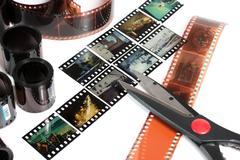 Video editing Stock Photos