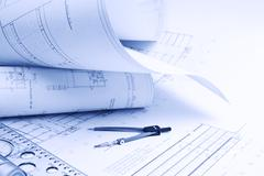 Stock Photo of architectural drawing