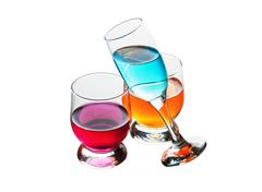 Stock Photo of three glasses with drinks