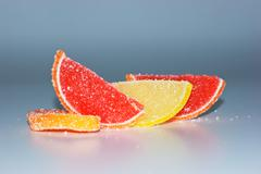 Stock Photo of slices of fruit in sugar