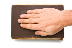 Oath on the bible Stock Photos