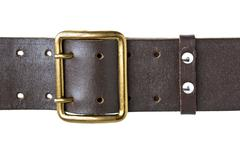 Buckle military belt Stock Photos