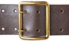 buckle military belt - stock photo