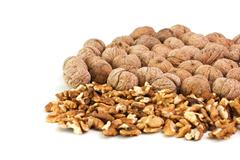 pile of walnuts - stock photo