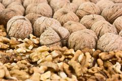Stock Photo of pile of walnuts