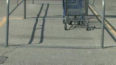 Shopping Mall Carts Stock Footage
