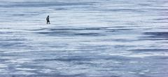 Lone fisherman Stock Photos