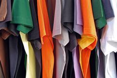 cotton t-shirts - stock photo