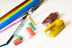 Pastel chalk drawing Stock Photos