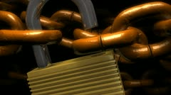 Locked chains, metal, secure, background, safety, guaranty. Stock Footage