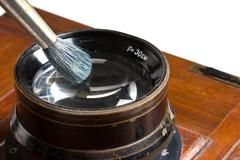 Stock Photo of lens cleaning brush