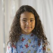 African girl wearing hospital gown Stock Photos