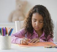 African girl coloring Stock Photos