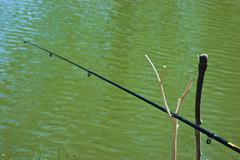 fishing rod - stock photo